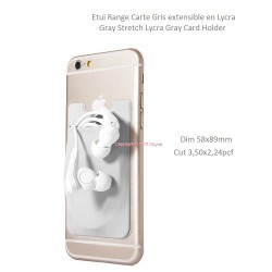 Case range door card grey stretch for Smartphon