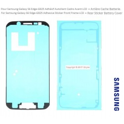 Adhesive Joint LCD Av and Ar battery cache for Samsung S6-Edge G925