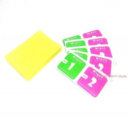 1 x 20 cloth wipe of yellow Microfiber for cleaning d camera lens LCD display for your