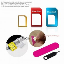 149 Adapter Kit 5 in 1 Nano SIM card micro standard for phone Apple Xiaomi Samsung etc spare parts