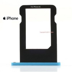 Tiroir Carte Sim pour Apple iPhone 5C Bleu