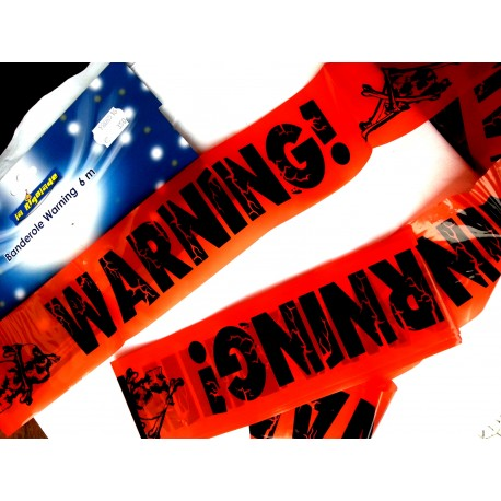 Banners of holiday Warning Orange joke length 6 meters - entertainment Articles - i