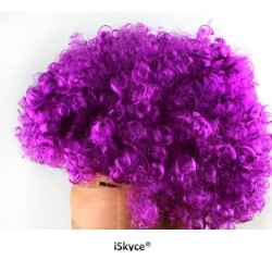 Wig Clown Gurly purple - larger than life! It will be a nice effect on you! Article