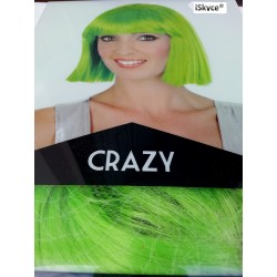 Fluo green Crazy wig - larger than life! It will be a nice effect on you! Di article