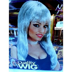 Glitzy Clamour silver gray wig - larger than life! It will be a nice effect on you! AR