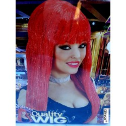 Wig Glitzy Clamour red straw - larger than life! It will be a nice effect on you! A