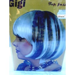 Gigi Fashion white wig with hair leopard - more real than nature! It will be a nice effect