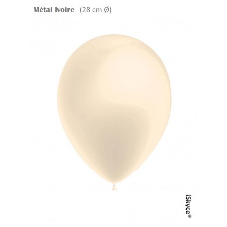 100 balloons Balloonia Metal ivory (28 cm O) prepare without too much difficulty festive evenings