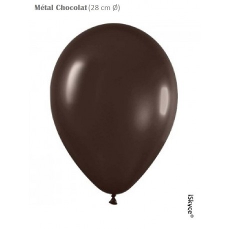 100 balloons Balloonia Metal chocolate (28 cm O) prepare without too much difficulty festive evenings