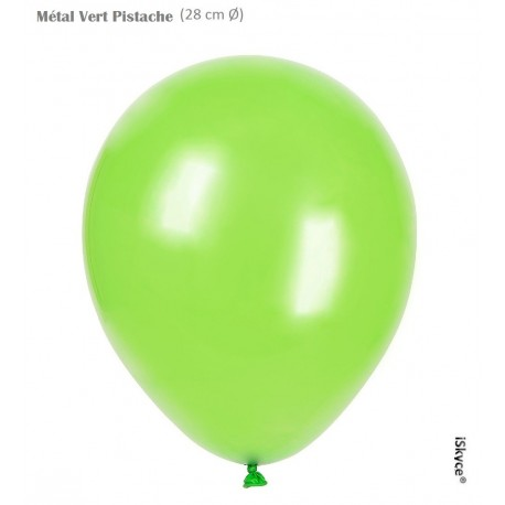 100 balloons Balloonia Metal pistachio (28 cm O) prepare without too much difficulty festive evenings