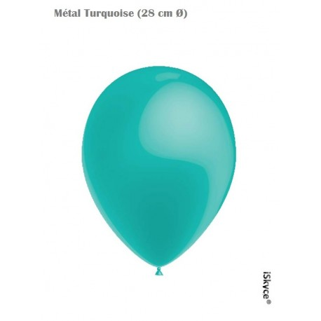 50 balloons Balloonia Metal Turquoise (28 cm O) prepare without too much difficulty festive evenings