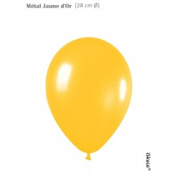 50 balloons Balloonia Metal yellow gold (28 cm O) prepare without too much difficulty festive evenings