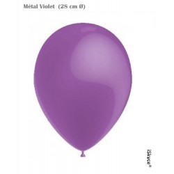 50 balloons Balloonia Metal Violet (28 cm O) prepare without too much difficulty festive evenings