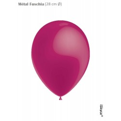 50 balloons Balloonia Metal Fuchsia (28 cm O) prepare without too much difficulty festive evenings has