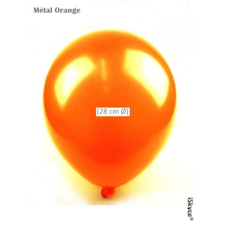 50 balloons Balloonia Metal Orange (28 cm O) prepare without too much difficulty festive evenings has