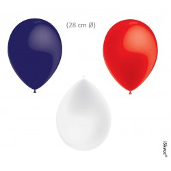 50 balloons Balloonia Metal or blue white red (28 cm O) 17 16 17 prepare without too much puzz