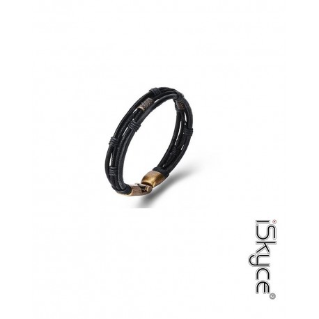 Bracelet unisex Retro elegant woven leather plated alloy of zinc hook clasp. Do