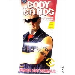 2 tattoos temporary Tough big arms made in U.S.A. tattoos, make a splash with a tattoo