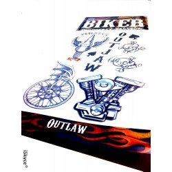 8 tattoos temporary Biker made in U.S.A. tattoos, make a splash with tattoos GR