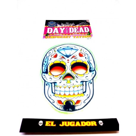 409. 1 Tatouage Temporaire Day OF DEAD made in U.S.A Tatoos