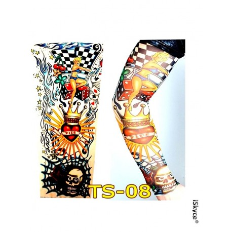 Decorative armband tattoo for sporting arm or King women of playing cards etc UV protection,