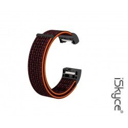 Pour FitBit CHARGE 2 noir orange Bracelet Montre Velcro Nylon Sport