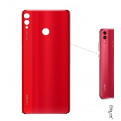 Couvercle Vitre Cache batterie Rouge pour smartphone Huawei Honor 8X