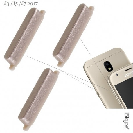 Bouton Allumage ON/OFF et Touches Volumes pour smartphone Or Samsung Galaxy J3 J5 J7 (2017)