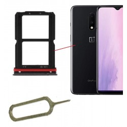 Sim Card Double Card Shelf Support For Oneplus 7 Black