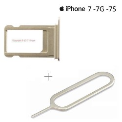 Pour Apple iPhone 7 tiroir carte sim or - clé pin